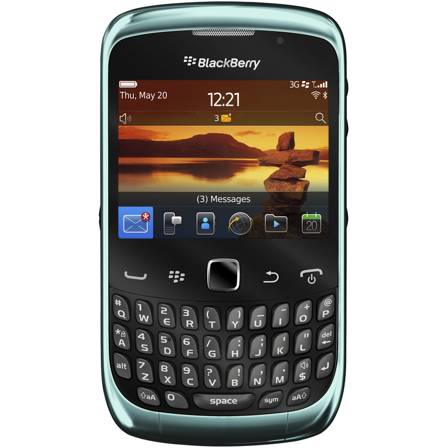 Blackberry curve 9300 in liquid blue on three for Housse blackberry curve 9300
