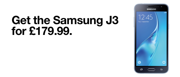 Get the Samsung J3 2017 for £249.99